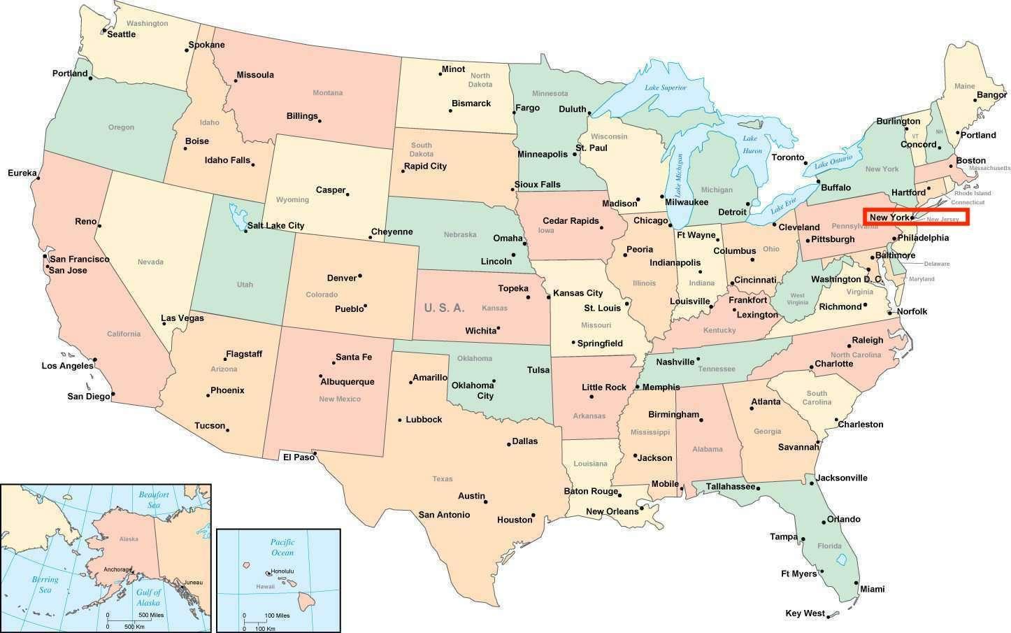 Amerika Karte New York.New York Amerikas Karti ņujorka Amerikas Kartē New York Asv